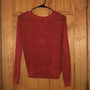 Sweaters - Burnt Orange Crotched Sweater